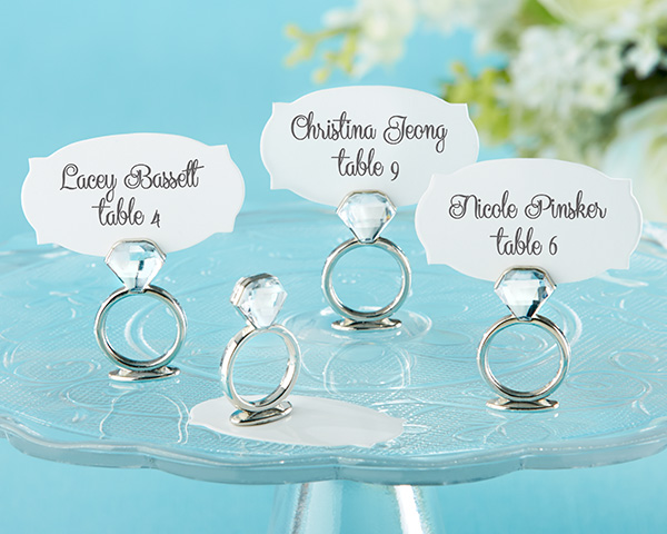 With This Ring, Jeweled Place Card/Photo Holder: Set of 6