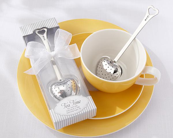Tea Time, Heart Tea Infuser in Elegant White Gift Box