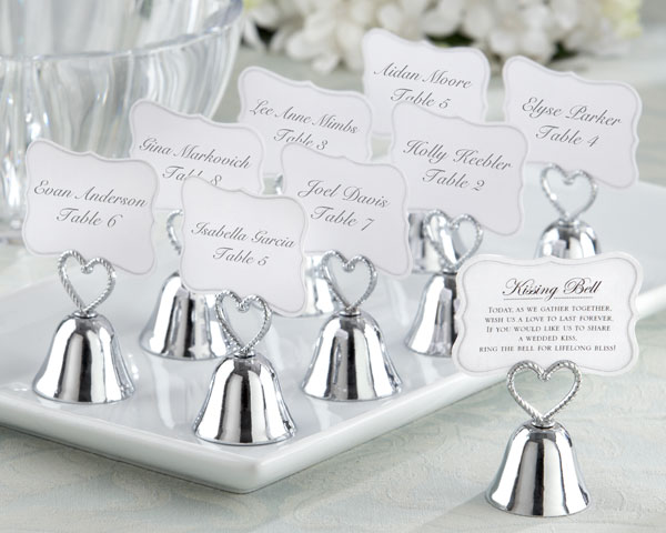 Kissing Bell, Place Card, Photo Holder: Set of 24