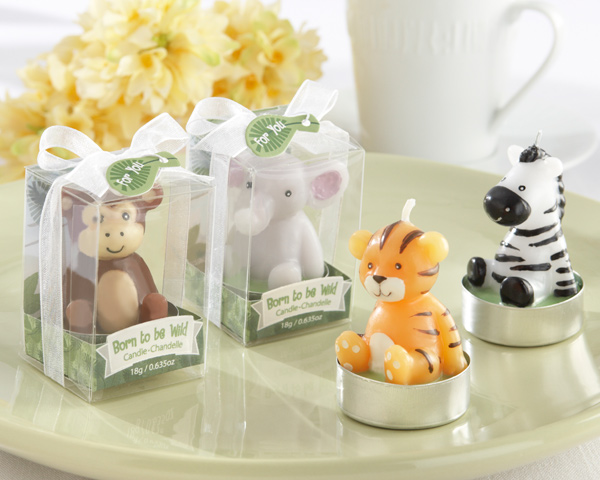 Born to be Wild, Animal Candles: Set of 4, Assorted