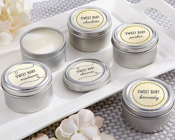 Personalized Travel Candle, Kate's Sweet as Can Bee Collection