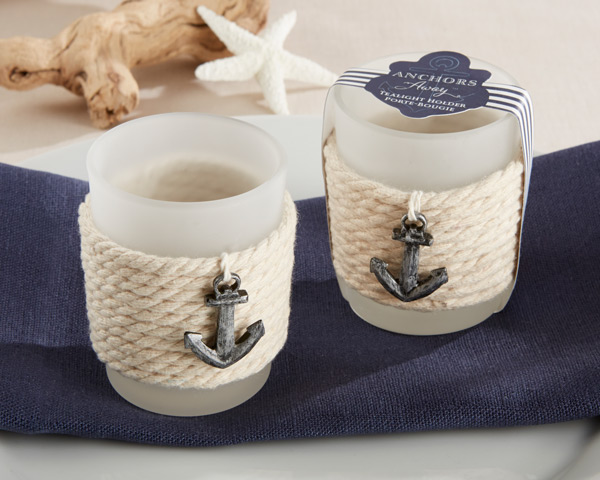 Anchors Away, Rope Tealight Holder: Set of 4