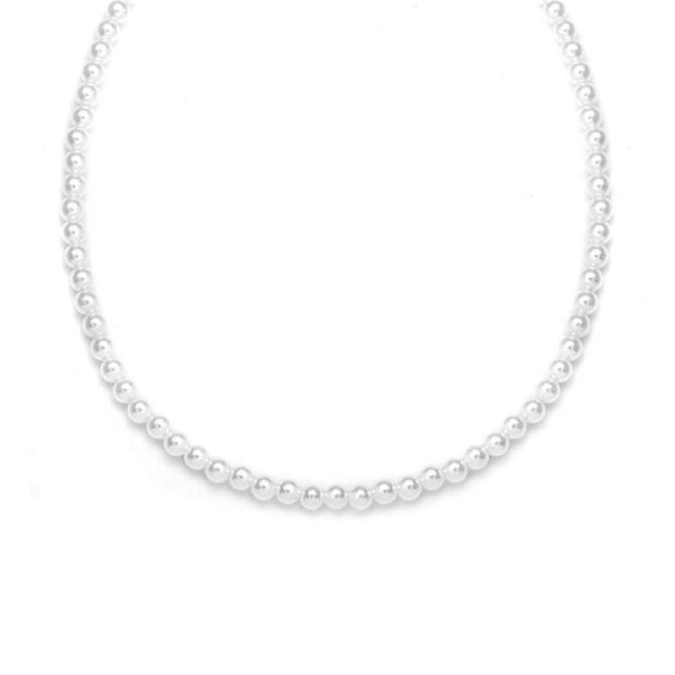 Mariell Single Strand 4mm Pearl Wedding Necklace