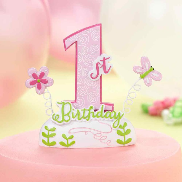 Lillian Rose 1st Birthday Caketop-Pink