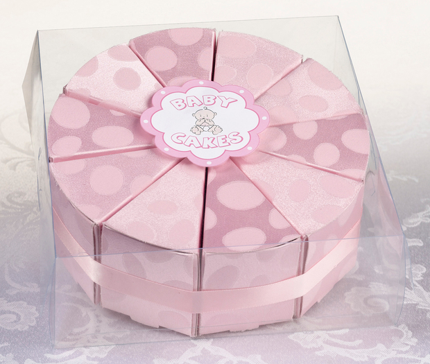 Lillian Rose Baby Cakes Favors-Pink: Set of 10