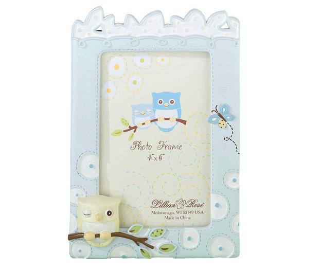 Lillian Rose Blue Owl 4 x 6 Frame