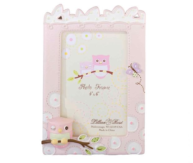 Lillian Rose Pink Owl 4 x  6 Frame