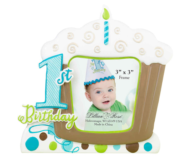 Lillian Rose 1st Birthday Frame - Blue