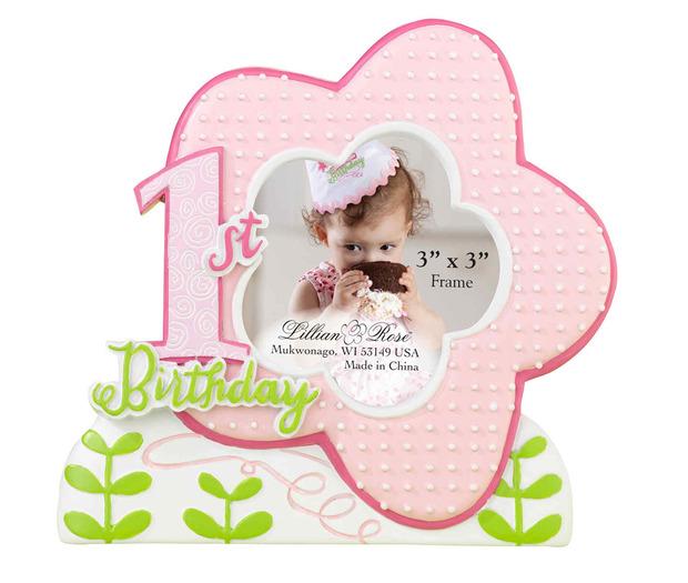 Lillian Rose 1st Birthday Frame - Pink