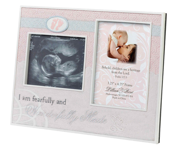 Lillian Rose Wonderfully Made Ultrasound Frame: Pink