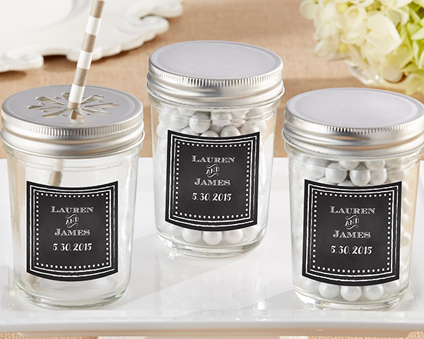 Personalized Mason Jar, Chalk: Set of 12