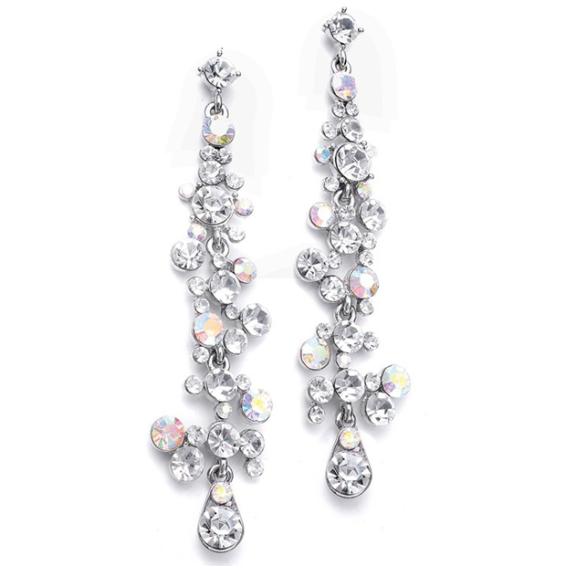 Mariell Dramatic Earrings with Cascading Bubbles