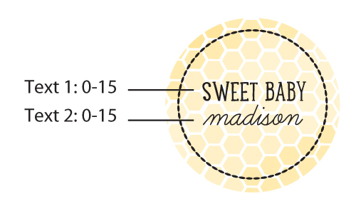 Personalized Round Candy Tin-Kate's Sweet as can Bee Collection: Set of 12