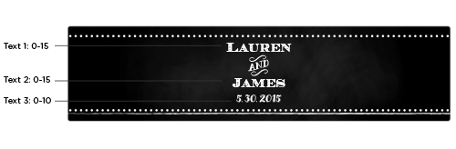 Personalized Water Bottle Labels: Chalk