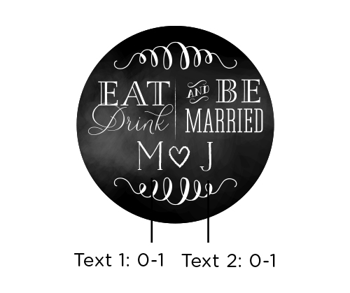 Personalized Glass Favor Jars, Eat, Drink & Be Married: Set of 12