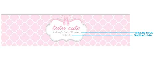 Personalized Water Bottle Labels: Tutu Cute