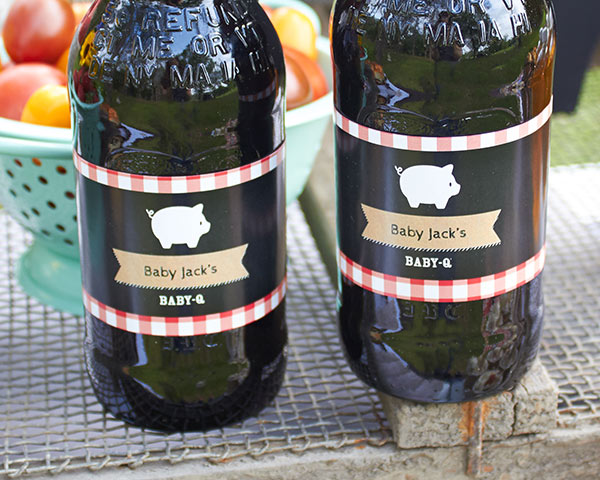 Personalized Water Bottle Labels: BBQ
