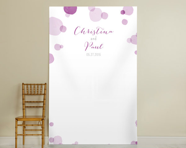 Personalized Orchid Photo Backdrop: Dots