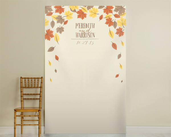 Personalized Fall Photo Backdrop: Leaves