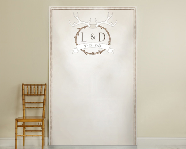 Personalized Antler Photo Backdrop