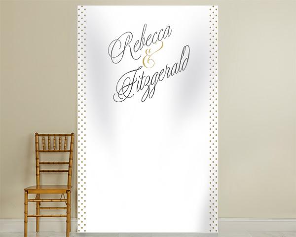 Personalized Photo Backdrop: Classic Grand Script