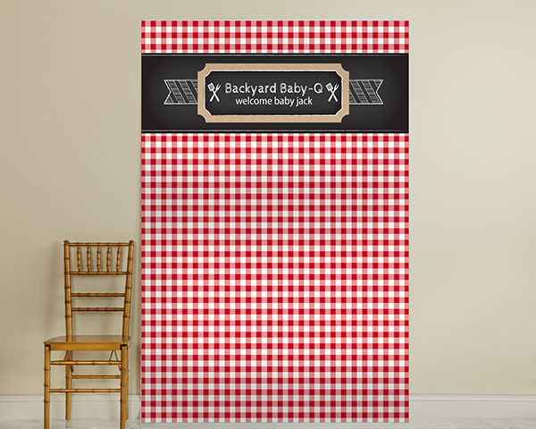 Personalized Photo Backdrop: BBQ
