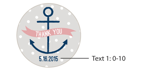 Personalized Round Candy Tin, Kate's Nautical Baby Shower Collection: Set of 12