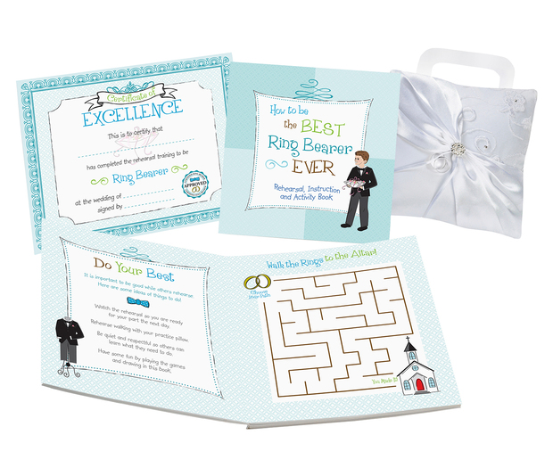 Lillian Rose Ring Bearer Activity Book