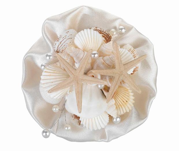 Lillian Rose Coastal Sea Shell Bouquet