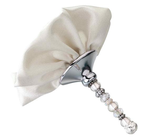 Lillian Rose Beaded Bouquet Holder-Ivory