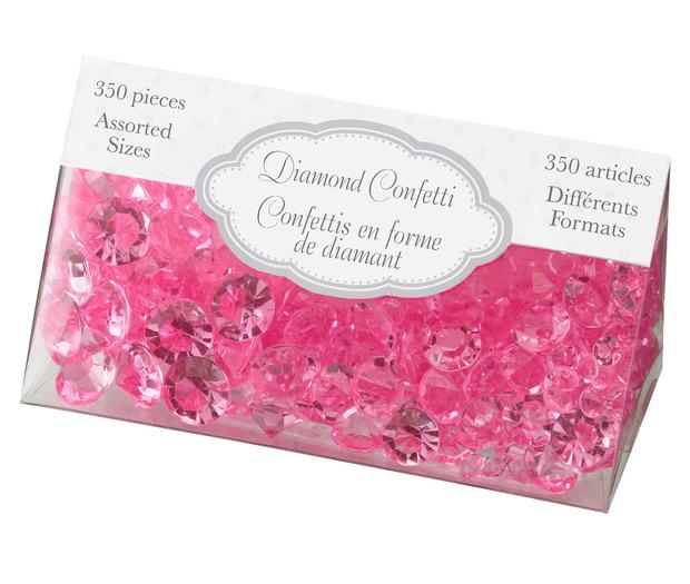 Lillian Rose Diamond Confetti - Hot Pink