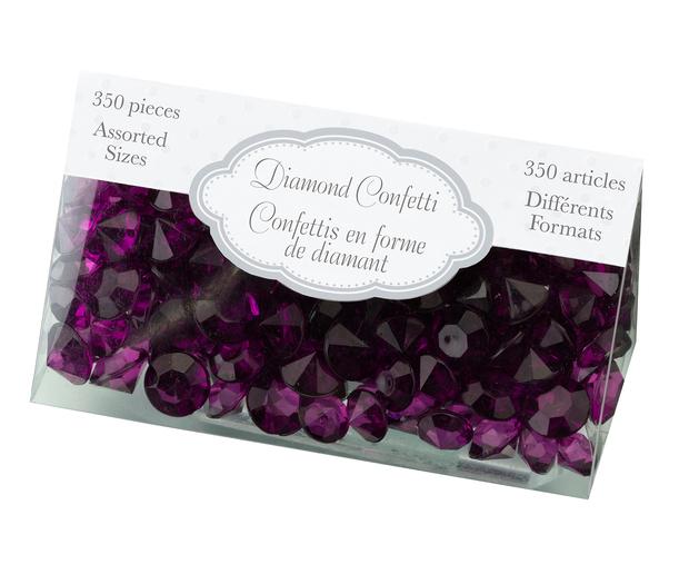Lillian Rose Diamond Confetti - Purple
