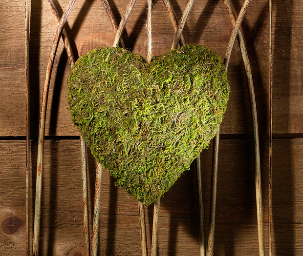 Lillian Rose Moss Hanging Heart