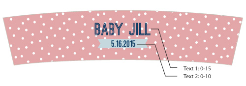 Personalized Frosted Glass Votive, Kate's Nautical Baby Shower Collection
