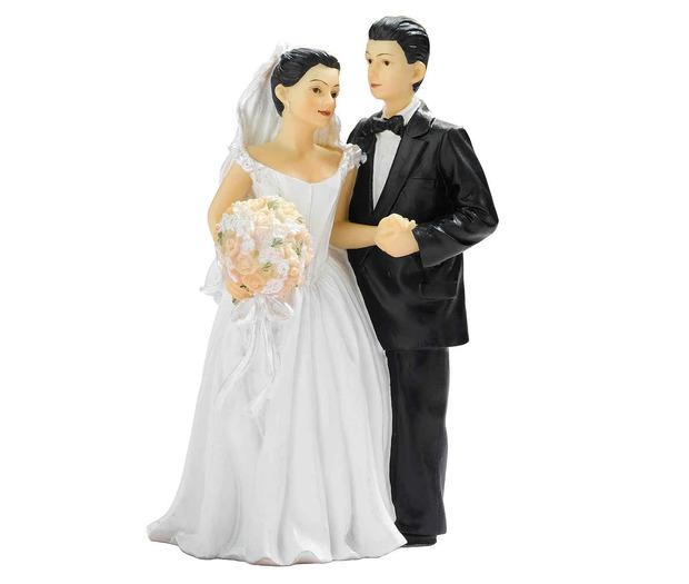 Lillian Rose Bride & Groom Hold Hands Figurine - Hispanic