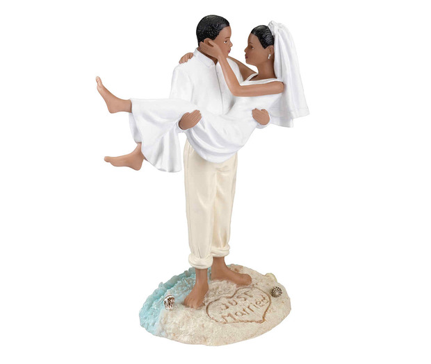 Lillian Rose Beach Wedding Figurine -African American