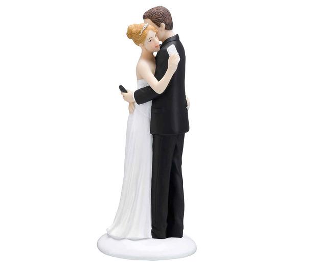 Lillian Rose Texting Couple Figurine