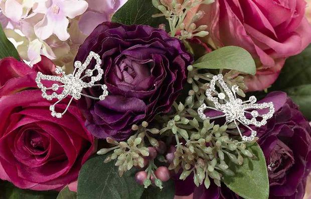 Lillian Rose Set of 2 Butterfly Flower Picks