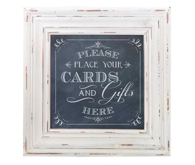 Lillian Rose Cards Framed Square Sign - Black