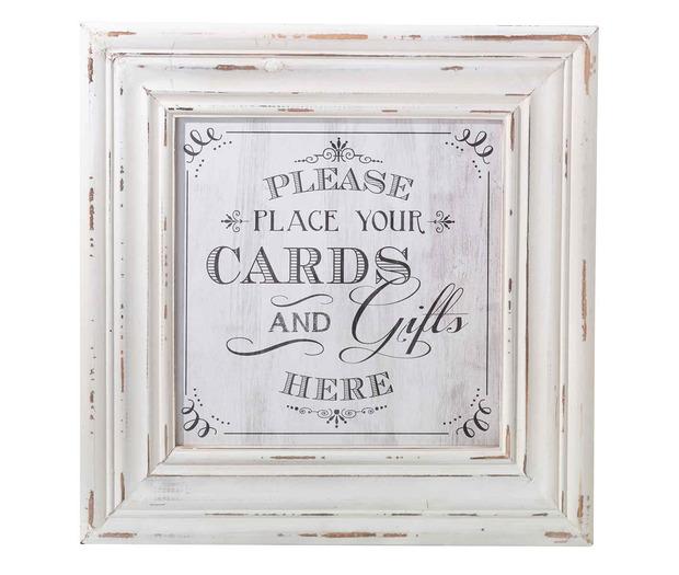 Lillian Rose Cards Framed Square Sign White