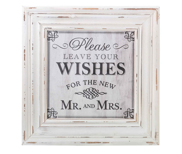 Lillian Rose Wishes Square Sign - White