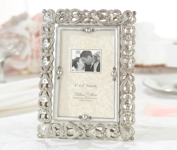 Lillian Rose Jeweled 4 X 6 Frame
