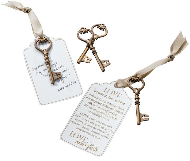 Lillian Rose Set of 24 Christian Bronze Key Tags