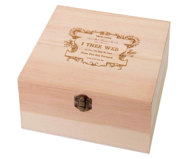 Lillian Rose True Love Wooden Card Box