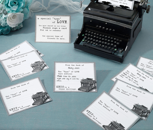 Lillian Rose Typewriter Guest Cards - Set of 48