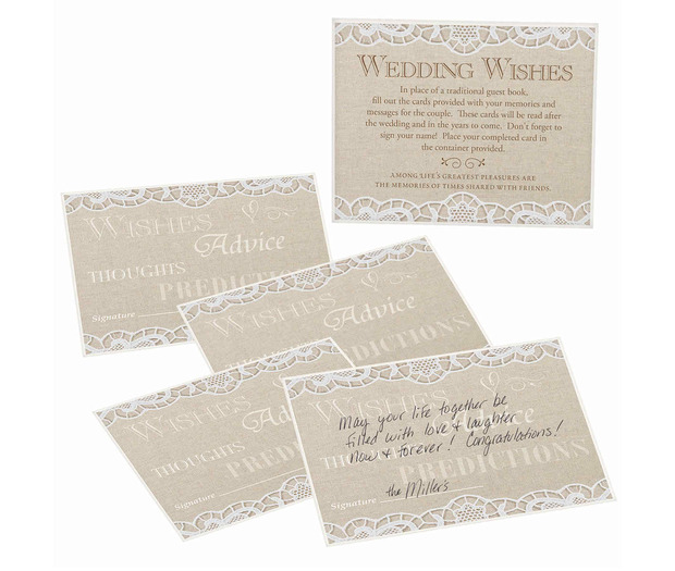 Lillian Rose Country Lace Guest Cards - Set of 48