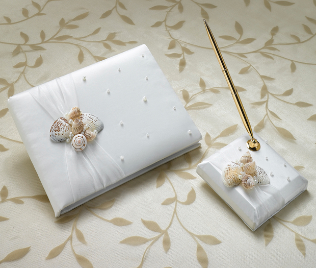 Lillian Rose Seaside Guest book with Pen Set