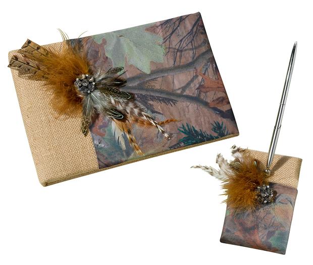 Lillian Rose Camouflage Guest Book & Pen Set