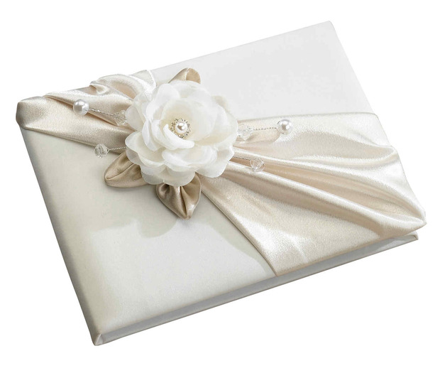 Lillian Rose Taupe Rose Guest Book