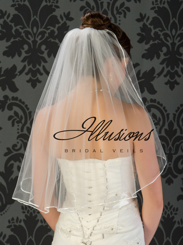 Illusions Bridal Ribbon Edge Veil 1-251-1R